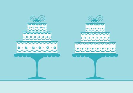 ウェディング ケーキ  イラスト・ベクター素材