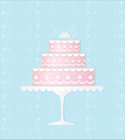 ウエディング ケーキの装飾