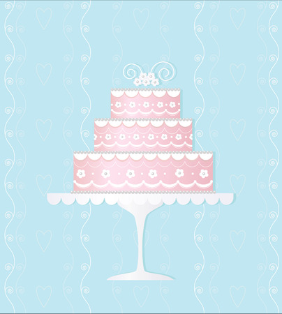design elements: Decorated wedding cake Illustration