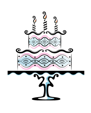 Birthday cake Illustration