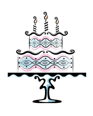 desert rose: Birthday cake Illustration