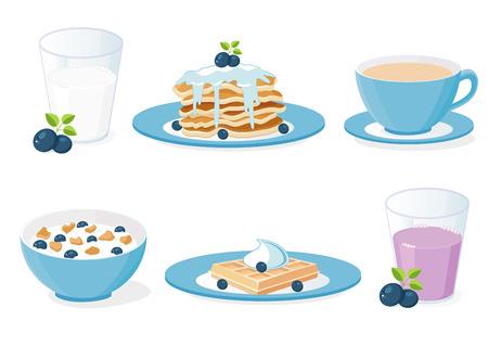 朝食のアイコン  イラスト・ベクター素材