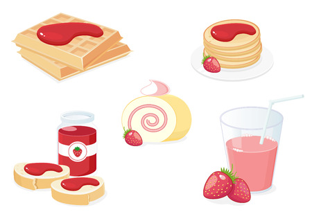 Breakfast with strawberries Stock Vector - 7802225