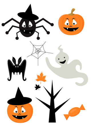 spider net: Halloween icons