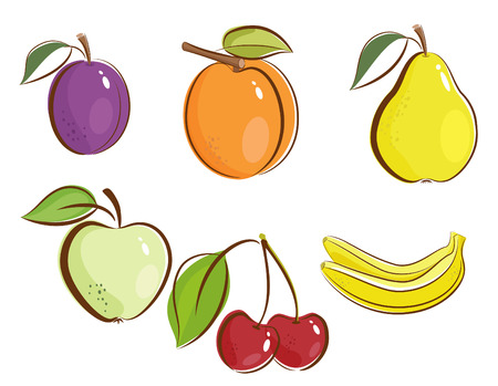 Fruits clipart icons