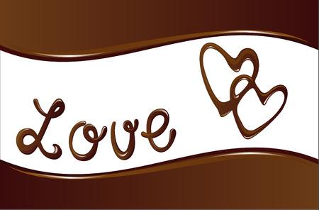 心とチョコレートの背景