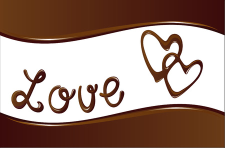 chocolate background with hearts Vector