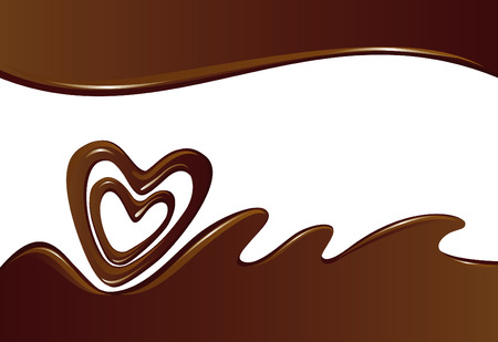 melted chocolate: Chocolate background  Illustration