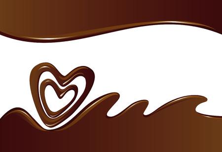 chocolate melt: Sfondo di cioccolato  Vettoriali