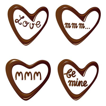 愛のチョコレートの心