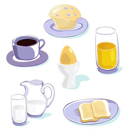breakfast icons set Stock Vector - 8711804