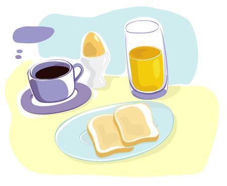 Breakfast Stock Vector - 8711807