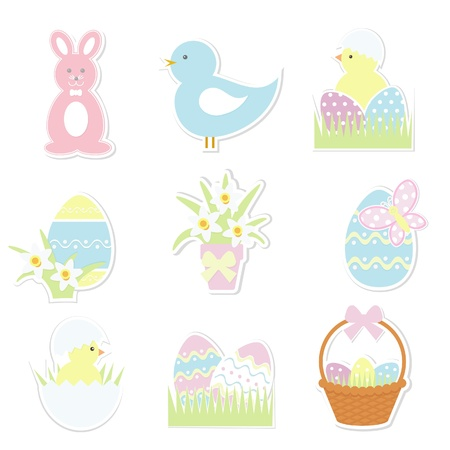 gift basket: Easter icons set
