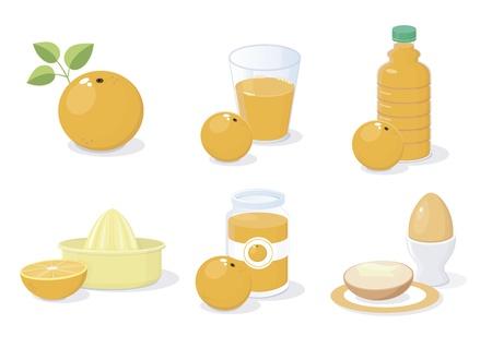 Breakfast icons Stock Vector - 14249044