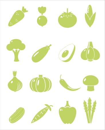 Set of vegetable icons Illustration