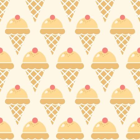 gelatin: Ice cream pattern Illustration