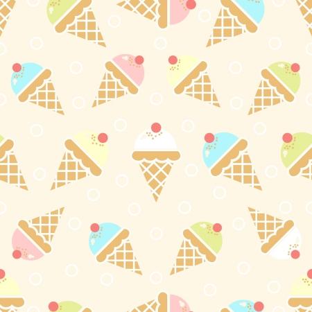 Ice cream pattern Çizim