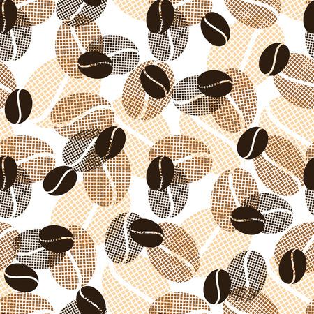 シームレスなコーヒー パターン