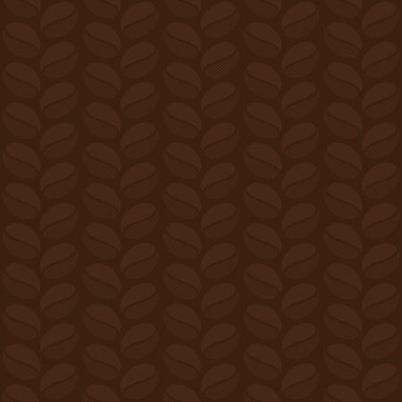 Seamless pattern of coffee beans illustration Ilustração