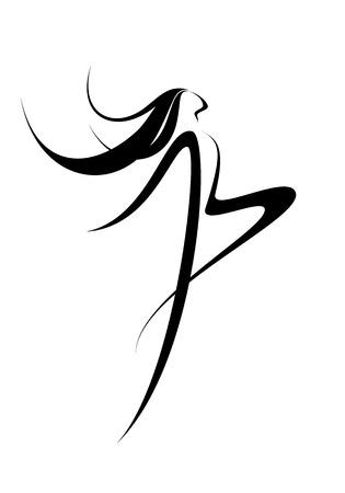 belle dame: Une image abstraite d'un danseur