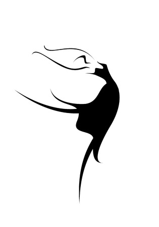 An abstract image of a ballet dancer Vector