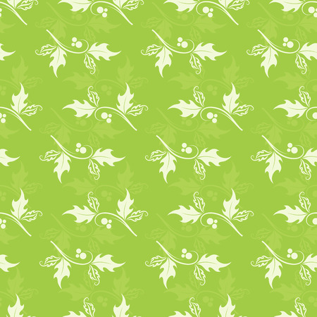Christmas decorative pattern with holly berries