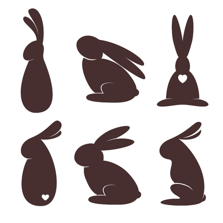 Bunnies silhouettes