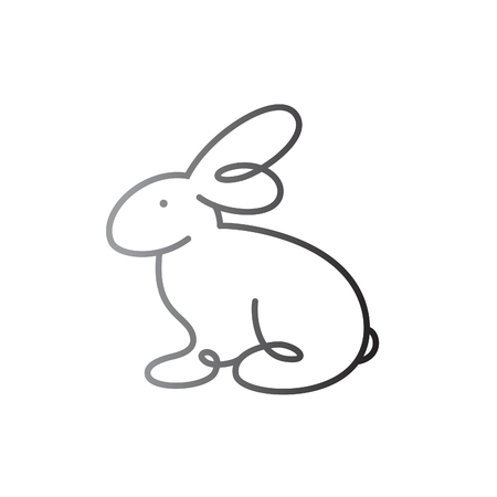 Bunny silhouette isolated