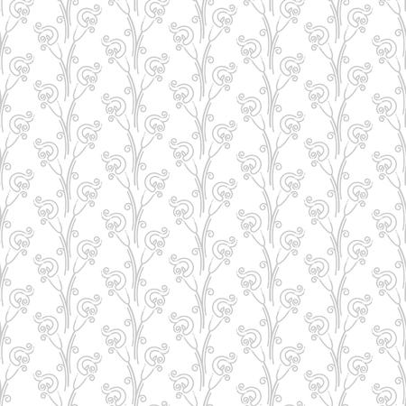 Abstract seamless calla lilies pattern Ilustração