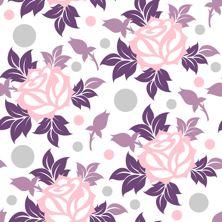 Seamless vector floral decorative pattern.
