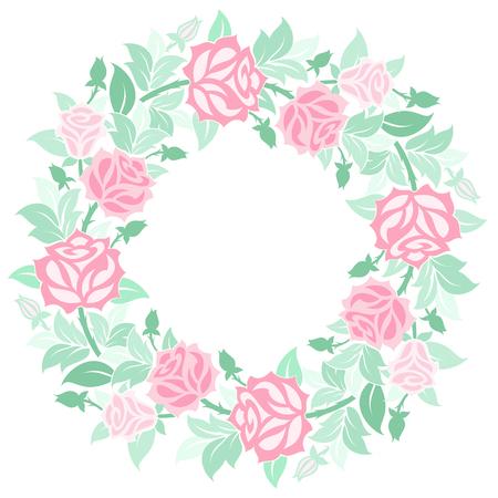 Vector decorative floral wreath. Ilustração