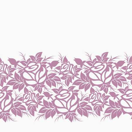 Seamless vector decorative floral border.