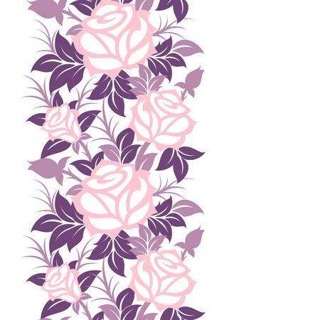 Seamless decorative vector floral border