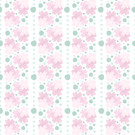 Seamless vector floral pattern with water-colour effects.