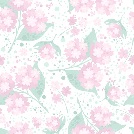 Vector seamless floral pattern with watercolour effects.