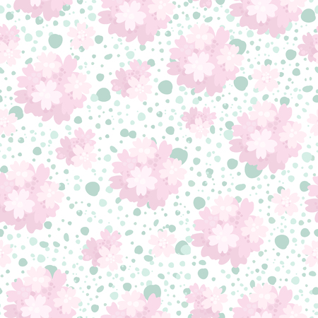 Vector seamless floral pattern with water-colour effects.