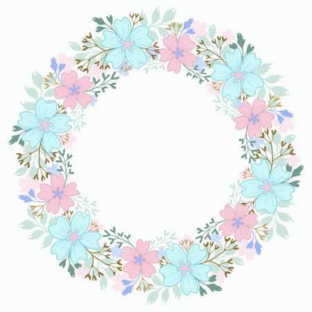 Decorative floral vector floral wreath