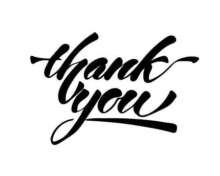 Thank you - hand lettering inscription