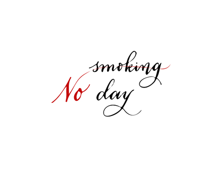 World No Tobacco Day, vector illustration, flat silhouette, banner concept poster template black white cigarette, cardiogram