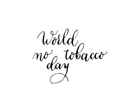 World No Tobacco Day, vector illustration, flat silhouette, banner concept, poster template, black, white, cigarette