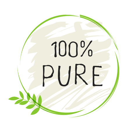 Eco food label and high quality product badges. Bio healthy organic, 100 bio and natural product icon. Emblems for cafe, packaging etc. Vector