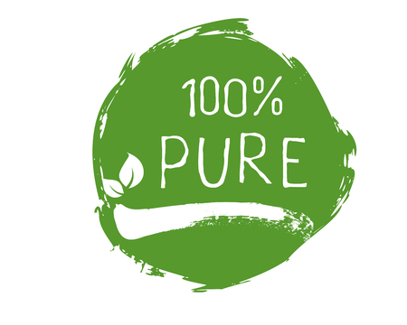 Organic product label and high quality product badges. Bio Pure healthy Eco food organic, bio and natural product icon. Emblems for cafe, packaging