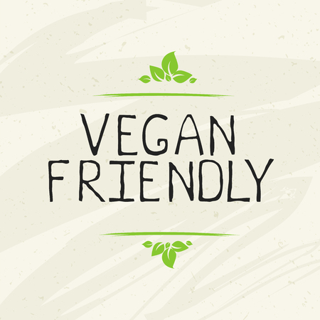 Vegan friendly label and high quality product badges. Bio Home made food Organic product Pure healthy Eco food organic, bio and natural product icon. Emblems for cafe, packaging etc. Vector Çizim