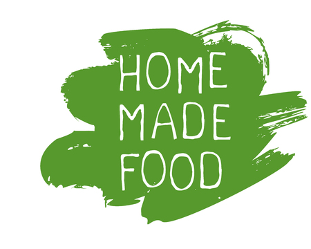 Home made food label and high quality product badges. Bio Organic product Pure healthy Eco food organic, bio and natural product icon. Emblems for cafe, packaging etc. Vector Çizim