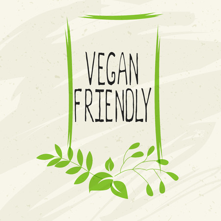 Vegan friendly label and high quality product badges. Bio Home made food Organic product Pure healthy Eco food organic, bio and natural product icon. Emblems for cafe, packaging etc. Vector Illustration