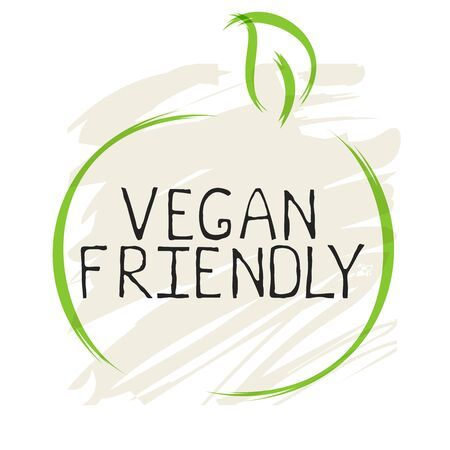 Vegan friendly label and high quality product badges. Bio Home made food Organic product Pure healthy Eco food organic, bio and natural product icon. Emblems for cafe, packaging Illustration