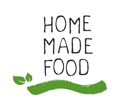 Home made food label and high quality product badges. Bio Organic product Pure healthy Eco food organic, bio and natural product icon. Emblems for cafe, packaging etc. Vector Иллюстрация