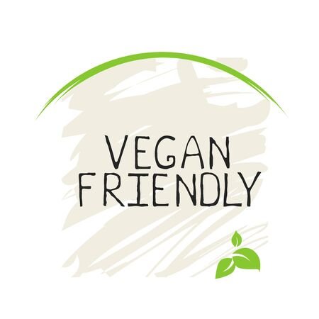 Vegan friendly label and high quality product badges. Bio Home made food Organic product Pure healthy Eco food organic, bio and natural product icon. Emblems for cafe, packaging etc. Vector Иллюстрация