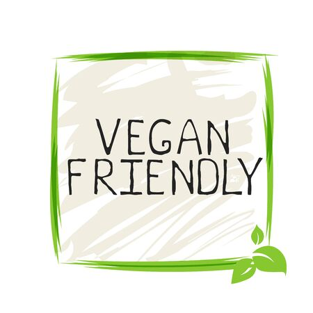 Vegan friendly label and high quality product badges. Bio Home made food Organic product Pure healthy Eco food organic, bio and natural product icon. Emblems for cafe, packaging Иллюстрация
