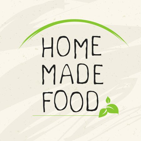 Home made food label and high quality product badges. Bio Organic product Pure healthy Eco food organic, bio and natural product icon. Emblems for cafe, packaging